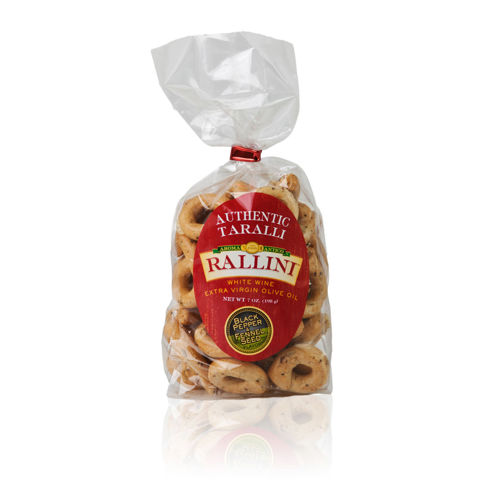 Black Pepper Fennel Taralli 7oz Bag
